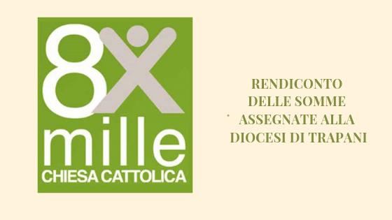 Rendiconto delle assegnazioni CEI dell 8xMille alla diocesi di Trapani